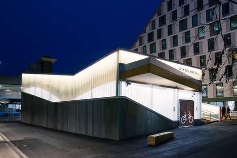 Vast Bicycle Hotels - The Lillestrom Bicycle Hotel Lets People Store Bicycles for Monthly Fees