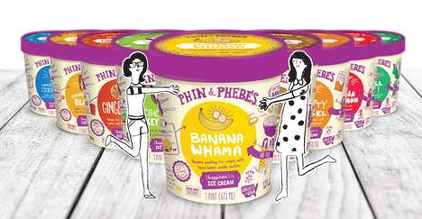 Small-Batch Ice Creams - 'Phin & Phebes' Ice Cream Products are Created with Real Ingredients
