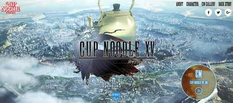 Noodle Fantasy Crossovers - 'Cup Noodle XV' is a Collaborative Parody of 'Final Fantasy XV'