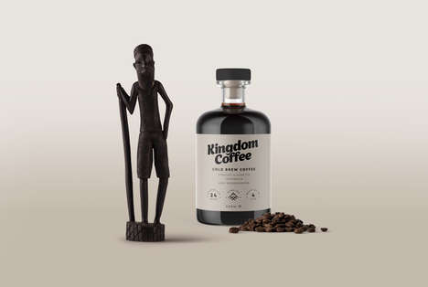 Cork-Topped Cold Brews - 'Kingdom Coffee' Products Feature Sophisticated Branding