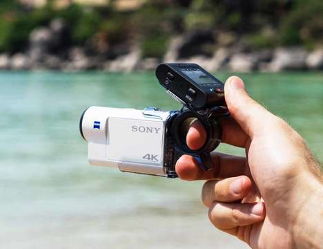 Live-View Action Cams - The Sony FDR-X3000 4K Action Cam Has a Zeiss Tessar Lens