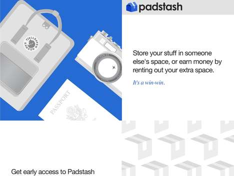 Storage Space-Renting Services - 'Padstash' Connects Neighbors to Rent Spaces for Storage