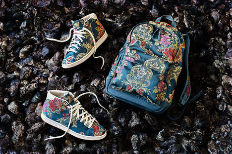 Refined Floral High-Tops - Pharrell Williams' 'Jacquard Pack 2.0' Consists of Flowery Shoes & More