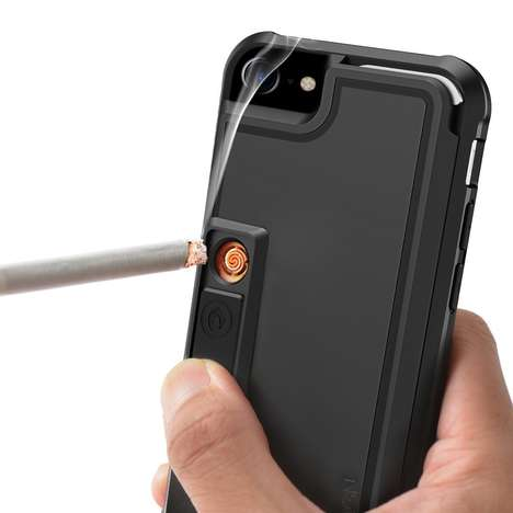 Multifunctional Smartphone Cases - The ZVE iPhone 7 Protective Cover Lights Smokes and Pops Bottles