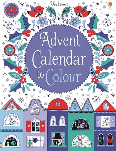 Color-In Advent Calendars - Usborne's Festive Countdown is Styled Like a Christmas Coloring Book