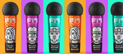 Microphone-Inspired Soap Packaging - The FM Shower Gels Encourage Singing in the Shower