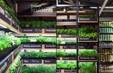 Grocery Store Herb Gardens - The Albert Heijn Supermarket Features In-Store Farming