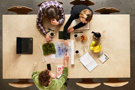 Integrated Office Lunch Rooms - The Snøhetta Office Combines Its Lunchroom with Working Space