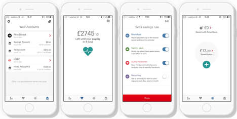 Micro-Saving Baking Apps - HSBC's SmartSave App Automates Savings Contributions