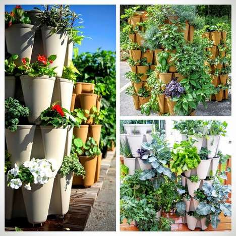 Vertical Garden Stacking Systems - 'GreenStalk' Provides Users with an Easy-to-Use Gardening System