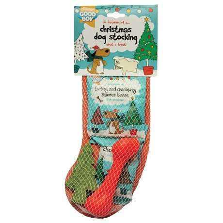 Dog-Friendly Holiday Stockings - This Good Boy Stocking Supplies Many Christmas Presents for Pets