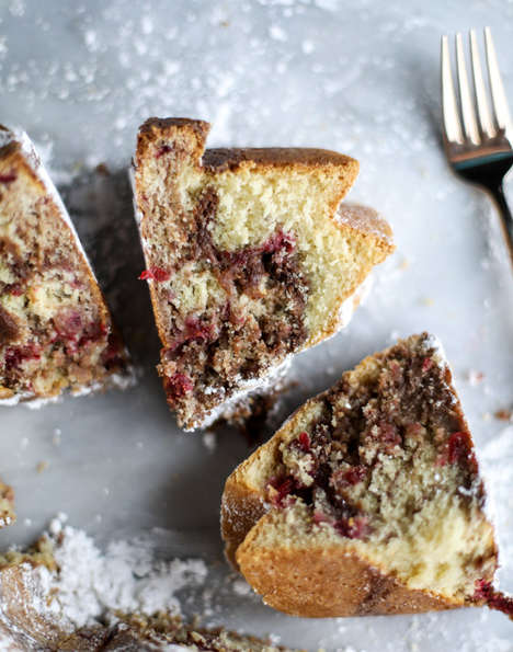 Leftovers-Containing Cakes - This Homemade Coffee Cake Takes Care of Your Leftover Cranberry Sauce