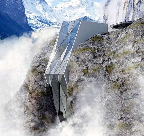 Surface-Inspired Cliffside Hotels - The Alps Cliff Hotel Draws Inspiration from the Landscape