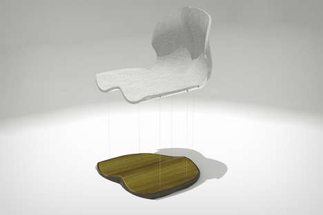 Floating Magnetic Seating Solutions - The Torso Magnetic Chair Seats Provide Suspension for Sitters