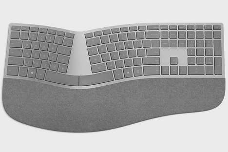 Healthy Strain-Free Keyboards - The Microsoft Surface Ergonomic PC Keyboard is Organically Designed