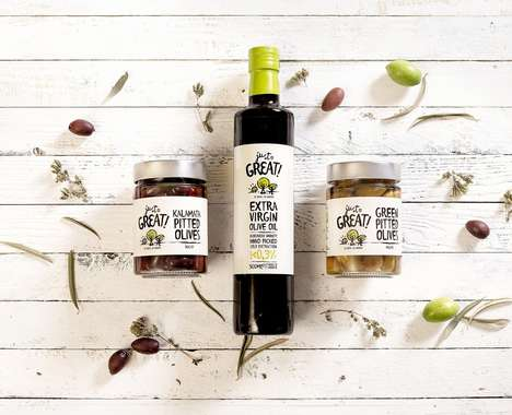Illustrative Olive Packaging