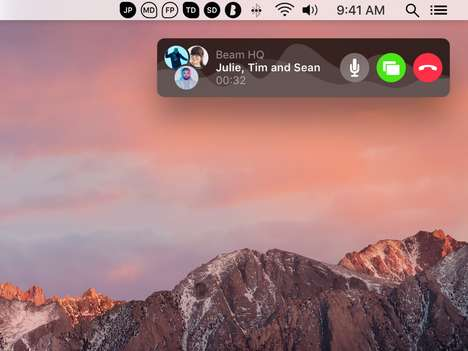 Built-In OS Calling Services - 'Beam' Offers Instant Voice Calling from the macOS Menu Bar