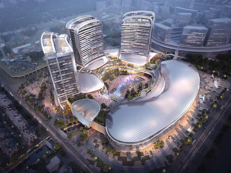 Mixed Use Creative Incubators - 'Novotown' Will Serve as a Cultural Hub on China's Hengqin Island