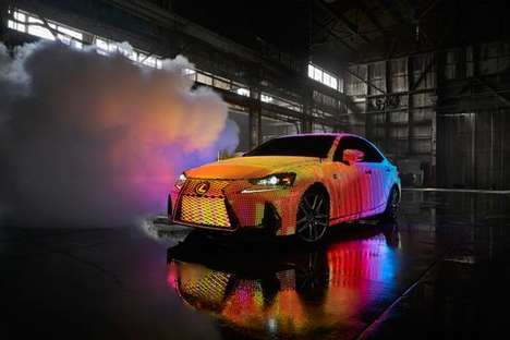 LED-Infused Car Exteriors - The Lexus LIT IS is Covered with Nearly 42,000 Programmable LEDs