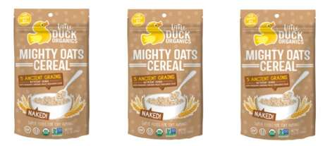 Ancient Grain Infant Foods - The Little Duck Organics Mighty Oats Cereal is Certified Organic