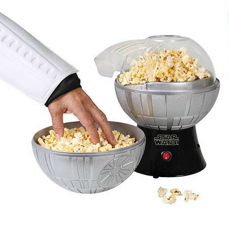 Sci Fi Popcorn Makers - The Death Star Popcorn Maker is Shaped Like the Famous Film Locale