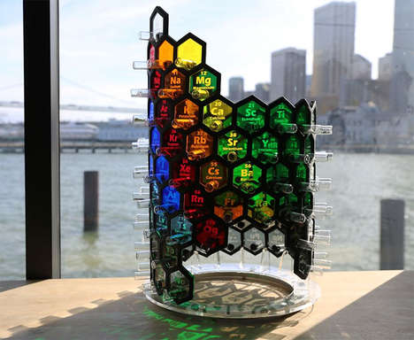 Periodic Table Lamps - This Lamp Would Make a Quirky Gift for Science Lovers