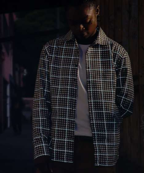 Reflective Plaid Shirts - This Shirt Has a Unique Design That Ensures the Wearer's Safety