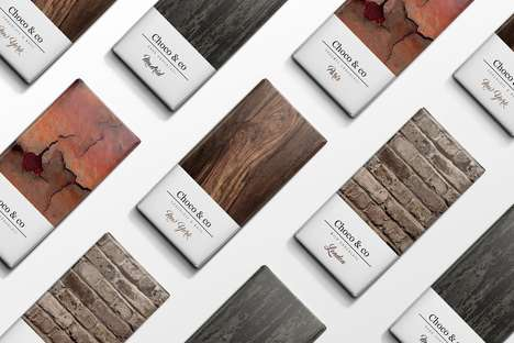 Architectural Chocolate Branding - The 'Choco & Co' Brand Was Inspired by Building Materials