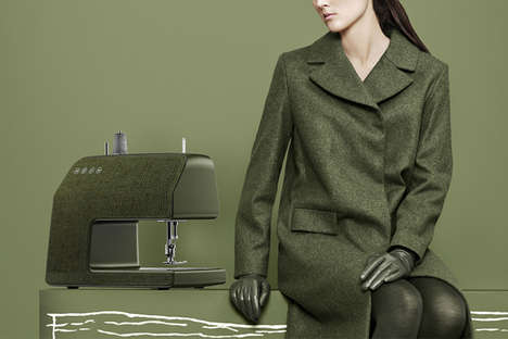 High-Fashion Sewing Machines - This Modern Sewing Machine by PDF HAUS and Vifa is Stylishly Designed
