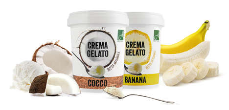 Creamy Tropical Gelatos - These Gelato Flavors are Made with High-Quality, Natural Ingredients