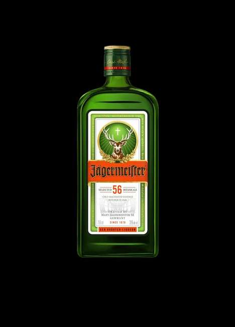 Iconic Liquor Bottle Redesigns - The New Jagermeister Bottle is an Update on a Classic Style