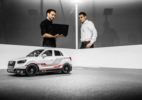 Miniature Self-Driving Training Cars - The 'Audi Q2 Deep Learning Concept' is a 1/8th Scale Model