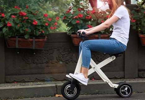 Foldable Flatpack Electric Scooters - The 'Xcape' Adult Scooter is Lightweight and Strong