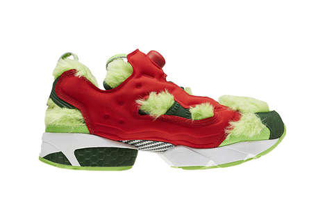 Grumpy Green Monster Sneakers - Reebok Adapted Its Instapump Fury Into Festive Grinch Shoes