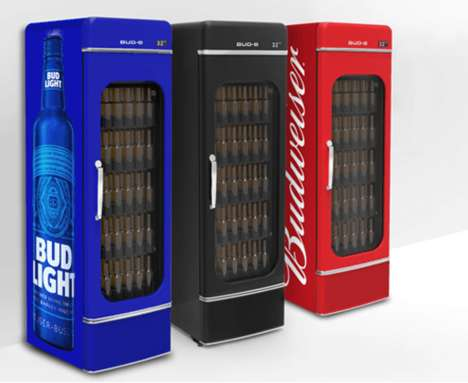 Connected Office Beer Fridges - The 'Office Bud-E' Office Fridge Lets You Know When it's Running Low
