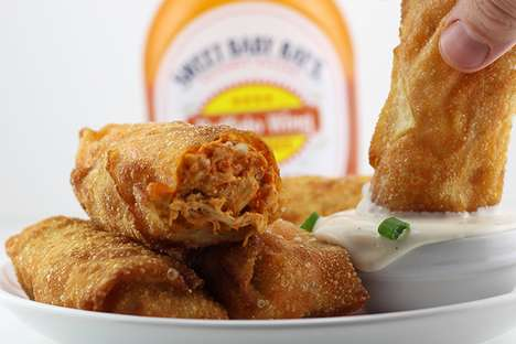 Tailgate-Themed Egg Rolls - This Recipe for Buffalo Chicken Egg Rolls is a New Take on a Classic