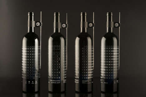 Lunar Calendar Wine Branding - This Wine Tracks All the Various Phases of the Moon from Each Month