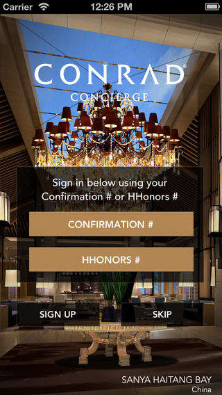 Luxury Hotel Concierge Apps - 'Conrad Concierge' is a App for Hilton's Conrad Hotels & Resorts