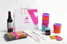 Vibrant Japanese Restaurant Branding - The Restaurant 'Yaposhka' Has a Dynamic New Visual Theme