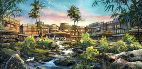 Tropical-Themed Disney Hotels - Hong Kong Disneyland is Opening a New Hotel in 2017