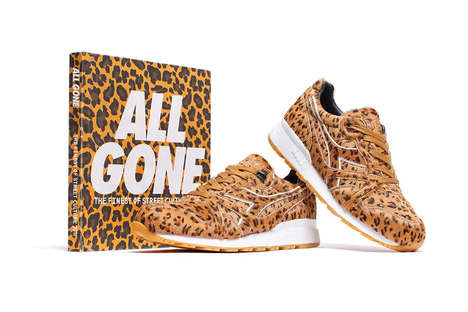Celebratory Leopard Sneakers - La MJC and Diadora Teamed Up for 'All Gone' Anniversary Series