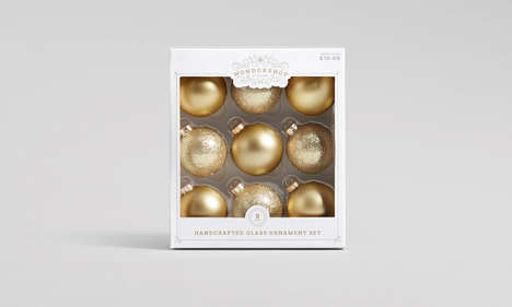 Artisanal Ornament Packaging - The Target 'Wondershop' Collection Features Sophisticated Branding