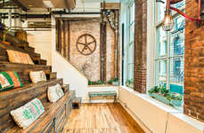 Modernized Rustic Co-Working Offices - The Farm Soho Office Embodies Collaboration and Creation