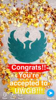 Social University Notifications - UW-Green Bay is Sharing University Acceptance on Snapchat