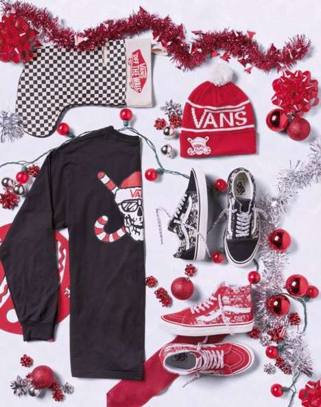 Festive Heritage Sneakers - The Christmas Vans Collection Incorporates Santa Graphics and More