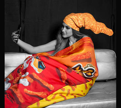Cheesy Branded Apparel - The Cheetos Fashion Line is Perfect to Relax in While Enhoying the Snack