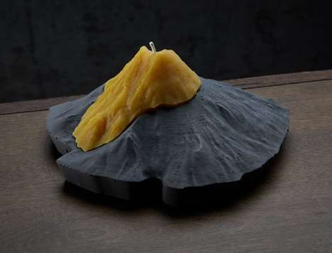 Volcanic Lava Candles - The 'Cascadia Candles' are Molded in the Shape of Real Mountains