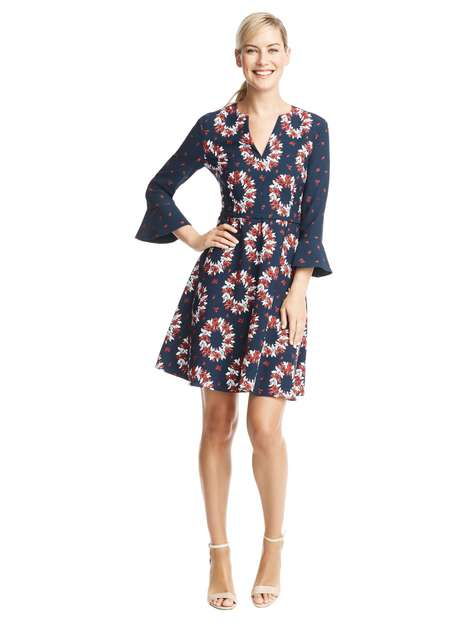 Pun-Patterned Dresses - The Wreath Witherspoon Dress From Draper James Features a Punny Print