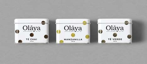 Heritage-Inspired Tea Branding - The Olaya Spice & Tea House Brand Has Revamped Its Packaging