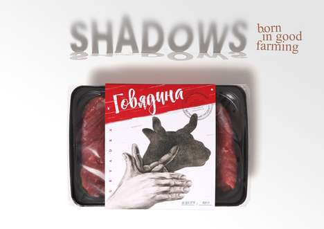 Humanized Meat Branding - These Meat Packs Feature Imagery in the form of Shadow Puppets